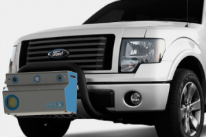 Reflective Measurement Systems RetroTek System front of vehicle