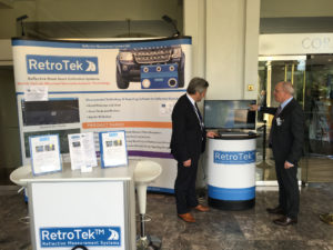 Joe-presents-RetroTek-retroreflectometer-delegate-ERF-road-safety-conference-malta-2017