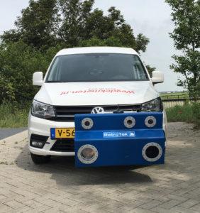 RetroTek-M-retroreflectometer attached to car in Netherlands