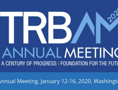 TRB (Transportation Research Board) Annual Meeting, January 12-16th 2020, Washington DC