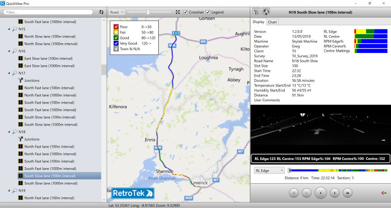 retrotek-d-retroreflectometer-survey-software