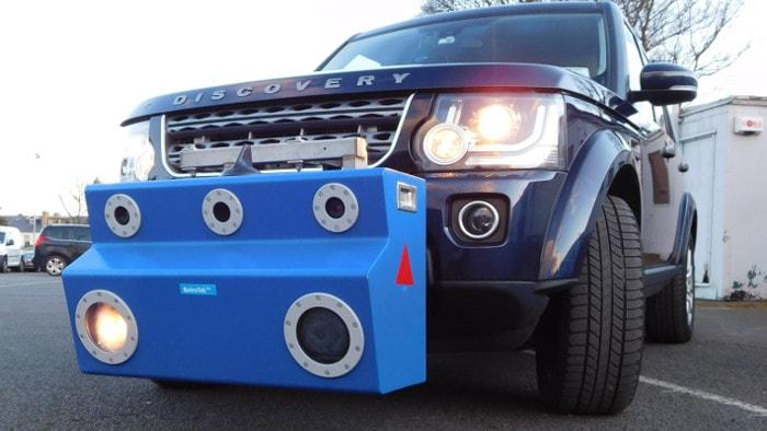 RetroTek Mobile Retroreflectometer on Land Rover